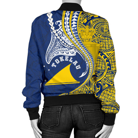 Tokelau Women's Bomber Jacket Manta Polynesian TH65