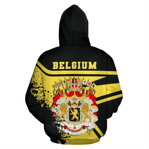 Image of Belgium Hoodie Painting Style Th52