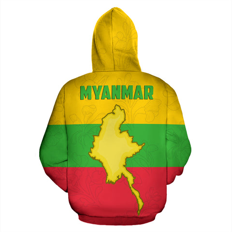 Image of Myanmar Hoodie Chinthe (Zip) TH5