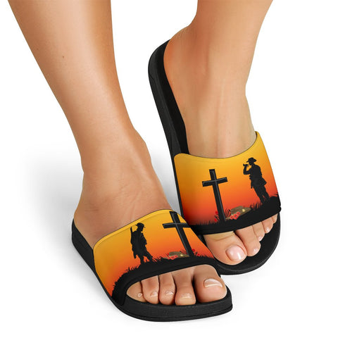Australia Anzac Day Slide Sandals - Lest We Forget A31
