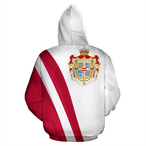 Denmark Hoodie Special Version - Hoodie Back - For Men and Women