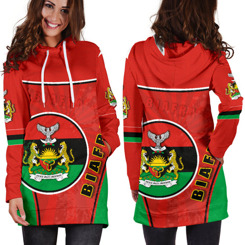 Biafra Women Hoodie Dress Circle Stripes Flag Proud Version K13