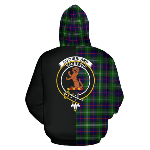 Image of Sutherland Modern Tartan Hoodie Half Of Me TH8