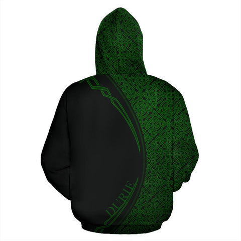 Durie Family Crest Zip Hoodie Irish Circle Style Hj4