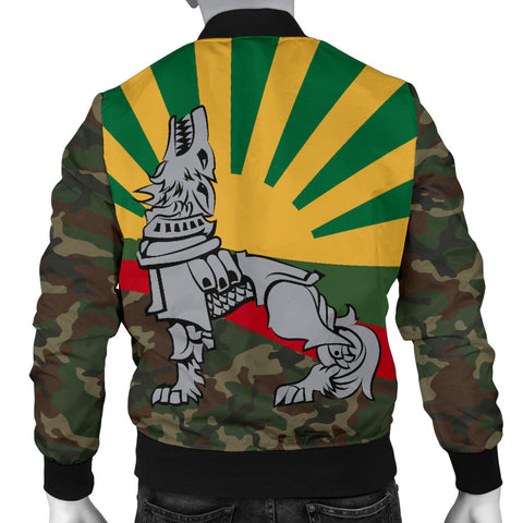Lithuania Men's Bomber Jacket Iron Wolf A7