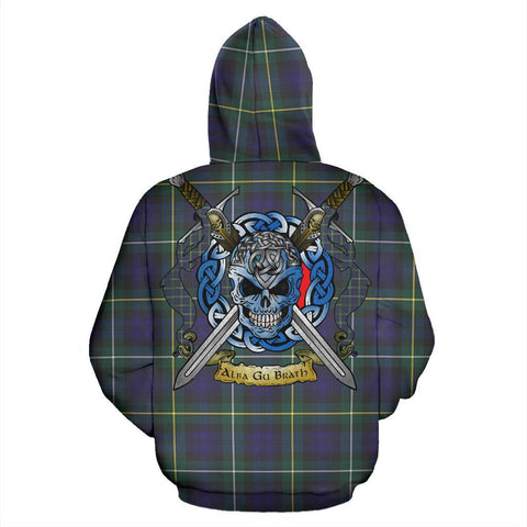 Image of Campbell Argyll Modern Tartan Hoodie Celtic Scottish Warrior A79 | Over 500 Tartans | Clothing | Apaprel