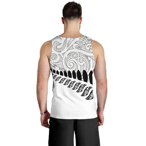 Image of New Zealand Silver Fern Tank Top | Men Apparel | Maori Clothing