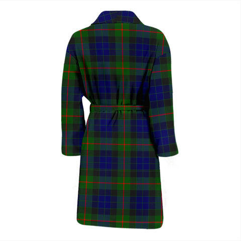 Gunn Modern Bathrobe - Men Tartan Plaid Bathrobe Universal Fit