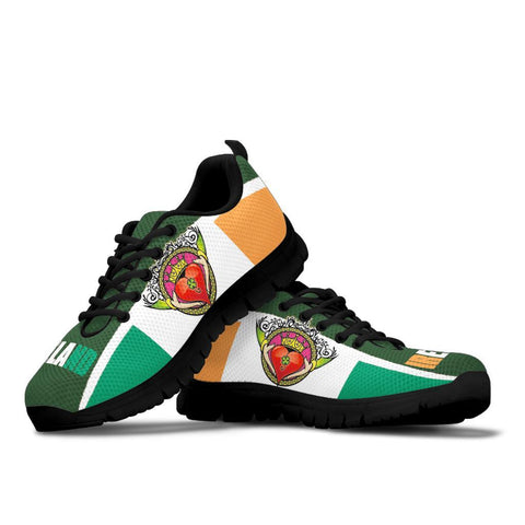 Celtic Ireland Sneakers - Ireland Flag With Claddagh Ring - BN21