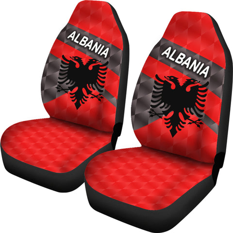 Image of Albania Car Seat Covers Sporty Style | 1sttheworld