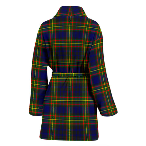 Clelland Modern Bathrobe - Women Tartan Plaid Bathrobe Universal Fit