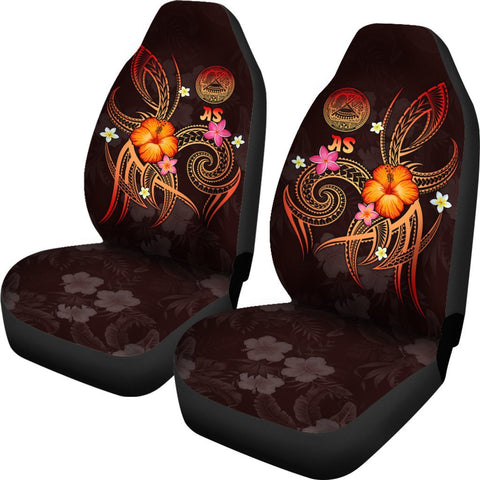 American Samoa Polynesian Car Seat Covers - Legend of American Samoa (Red)