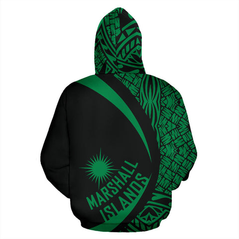 Image of Marshall Islands Turtle Polynesian Zip Up Hoodie - Circle Style 05 J9
