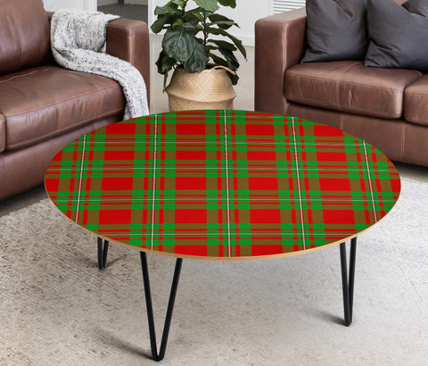 MacGregor Modern Tartan Circular Coffee Table - BN