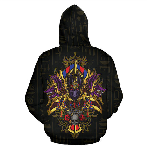Egypt Zip-Up Hoodie - God Anubis - Bn39