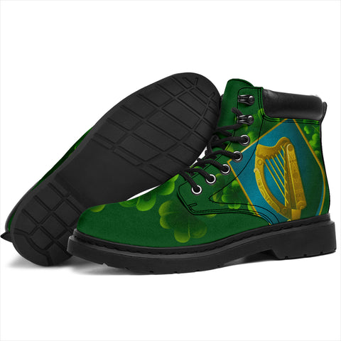 Ireland All-Season Boots - Irish Harp Coat of Arms J0