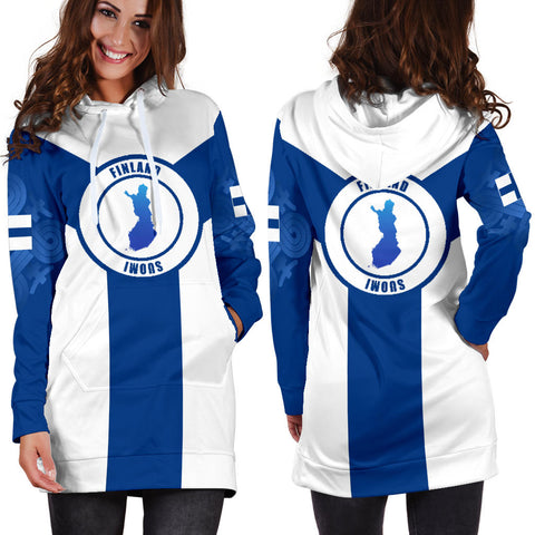 Finland Hoodie Dress Rising Women A10