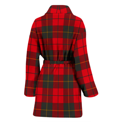 Image of Wallace Weathered Tartan Women's Bathrobe - Bn03