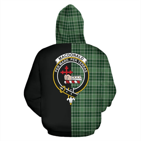 MacDonald Lord of the Isles Hunting Tartan Hoodie Half Of Me TH8