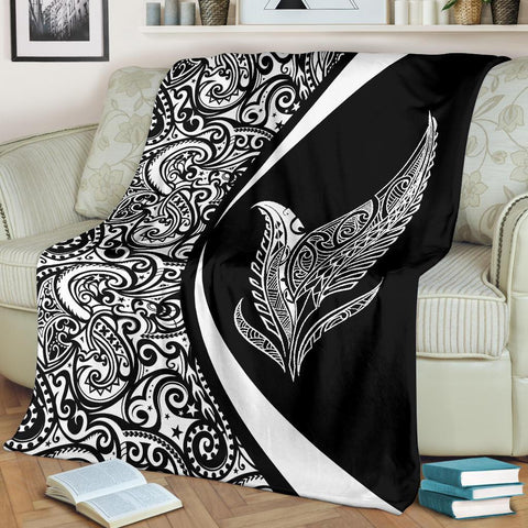 New Zealand Silver Fern Maori Premium Blanket