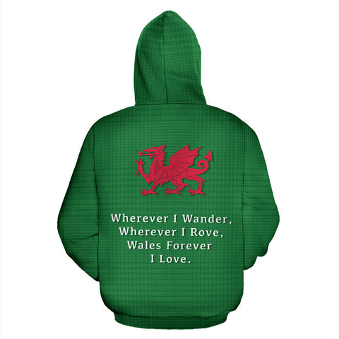 Wales Forever Hoodie - Back for Men and Womens