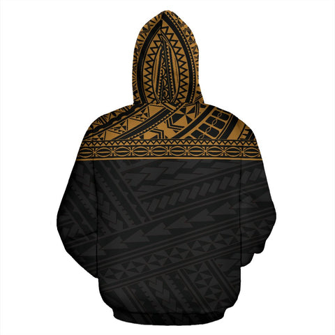 Image of Poly All Over Print Hoodie - Polynesian Gold Custom Version - BN09