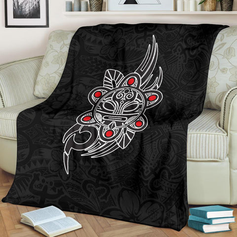 Image of Puerto Rico Taino Sun Coqui Frog Tribal Premium Blanket A15