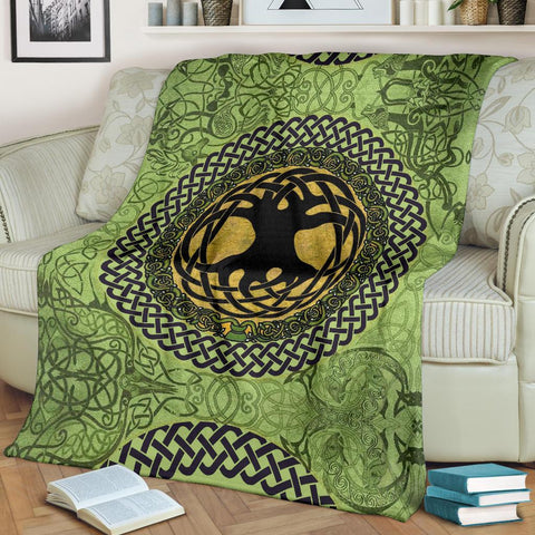 Celtic Premium Blanket - Celtic Tree Of Life