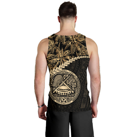 American Samoa Men's Tank Top Golden Coconut | Love The World