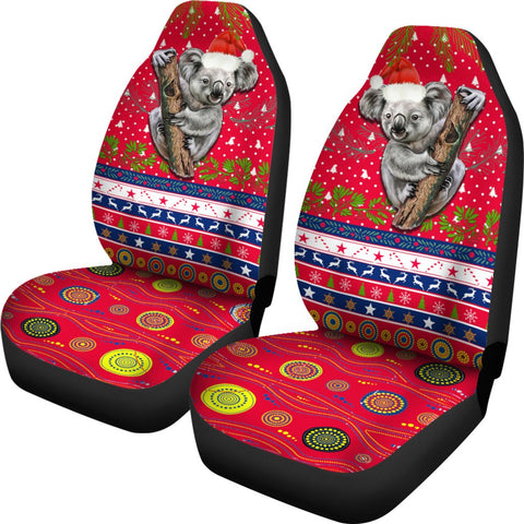 Australia Christmas Aboriginal Car Seat Covers Koala Version | 1sttheworld