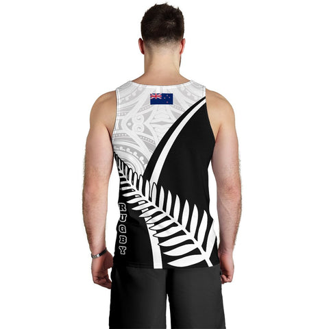 Image of New Zealand Rugby Men's Tank Top - New Zealand Fern & Maori Patterns