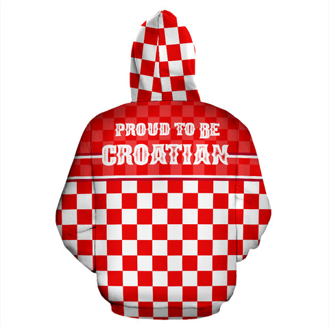 Image of Croatia - Proud To Be Croatian Zipper Hoodie | Unisex | Hrvatska