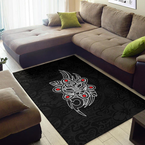 Image of Puerto Rico Taino Sun Coqui Frog Tribal Area Rug A15