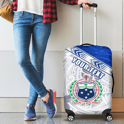 (Custom Personalised) Samoa Rugby Luggage Covers Spirit Manu Samoa White 2 | 1sttheworld