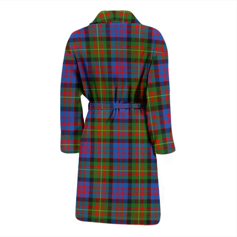 Carnegie Ancient Bathrobe - Men Tartan Plaid Bathrobe Universal Fit