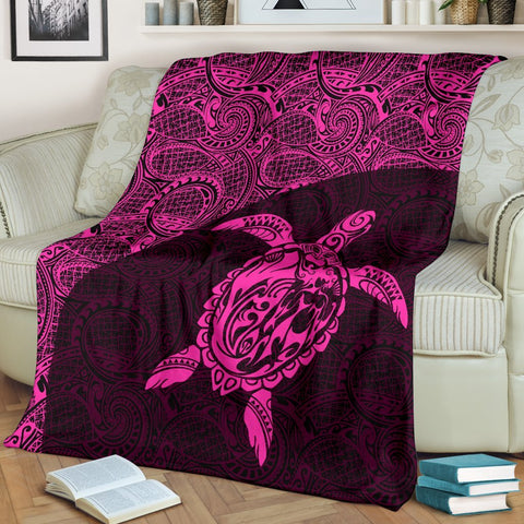 Hawaii Turtle Mermaid Premium Blanket 03 TH90