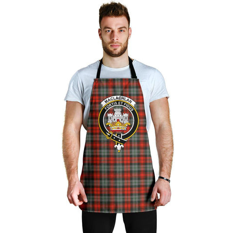Image of MacLachlan Weathered Tartan Clan Crest Apron HJ4