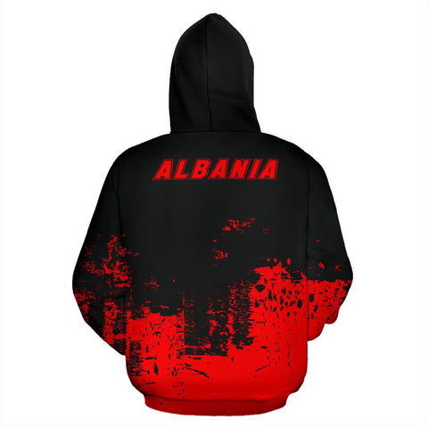 Albania All Over Hoodie - Smudge Style Front