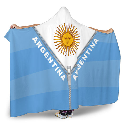 Argentina Hooded Blanket With Straight Zipper Style K52 | Love The World