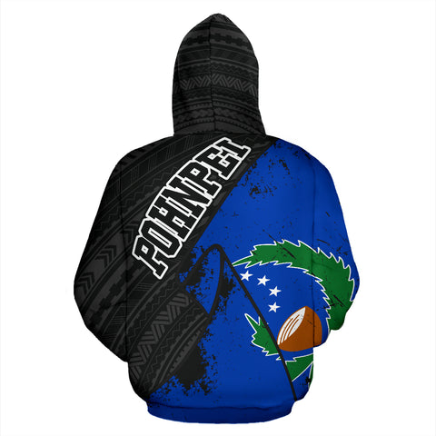 Pohnpei Special Grunge Flag Pullover Hoodie | Love The World