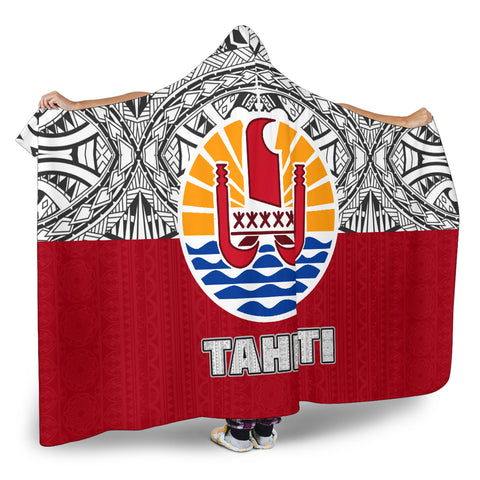 Image of Tahiti Polynesian Hooded Blanket - BN09