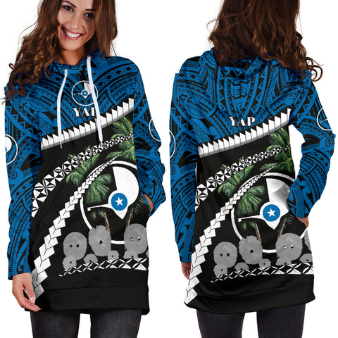 Image of Yap Stone Money Hoodie Dresses - Road to Hometown K4