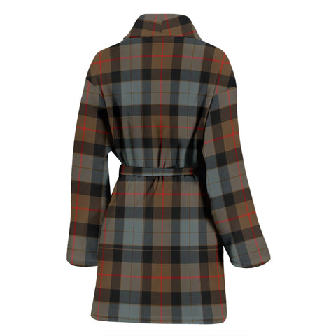 Gunn Weathered Bathrobe - Women Tartan Plaid Bathrobe Universal Fit