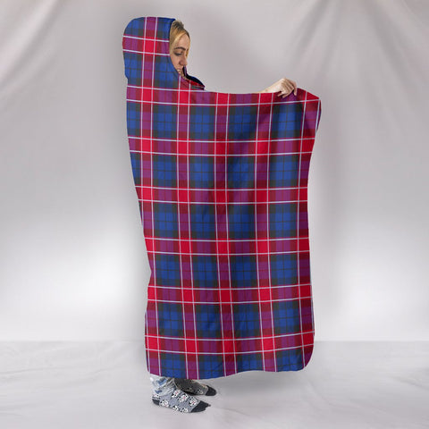 Graham of Menteith Red, hooded blanket, tartan hooded blanket, Scots Tartan, Merry Christmas, cyber Monday, xmas, snow hooded blanket, Scotland tartan, woven blanket