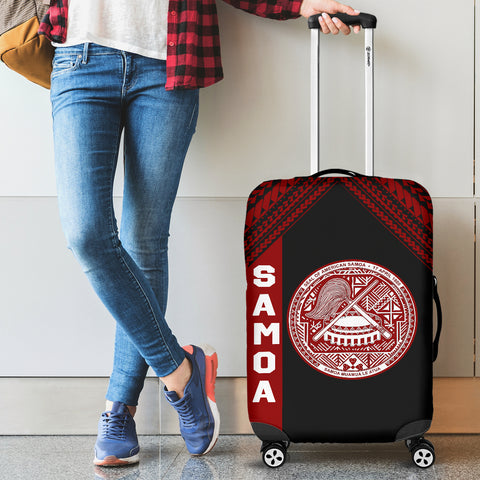 Seal of American Samoa Luggage Cover Black