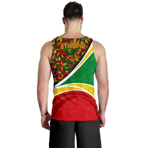 Image of 1stTheWorld Ethiopia Tank Top, Ethiopia Lion Of Judah Flag Rasta A10