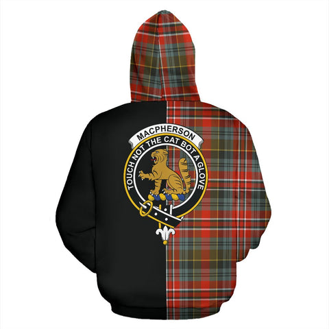Image of MacPherson Weathered Tartan Hoodie Half Of Me TH8
