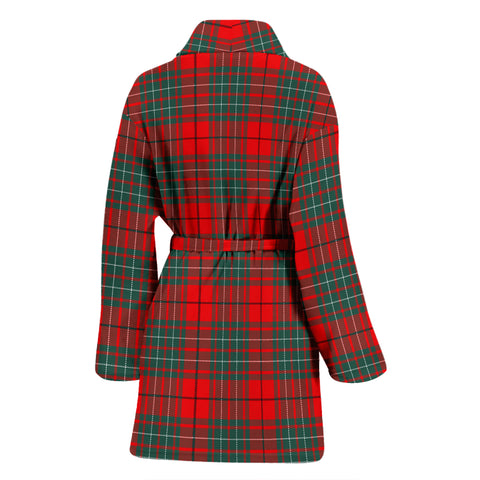 Cumming Modern Bathrobe - Women Tartan Plaid Bathrobe Universal Fit