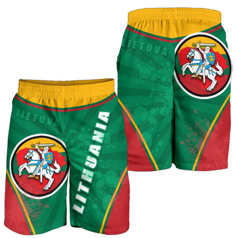Image of Lithuania - Lietuva Men Shorts Circle Stripes Flag Proud Version | 1sttheworld