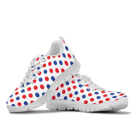 France Sneakers - Francais Flag Polka Dots Basic